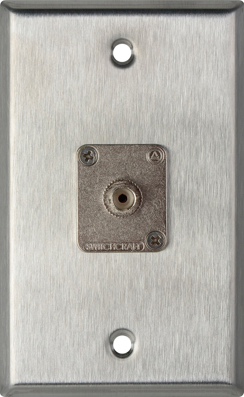 1-Gang Stainless Steel Wall Plate with 1 ST Multimode Fiber Optic Conn