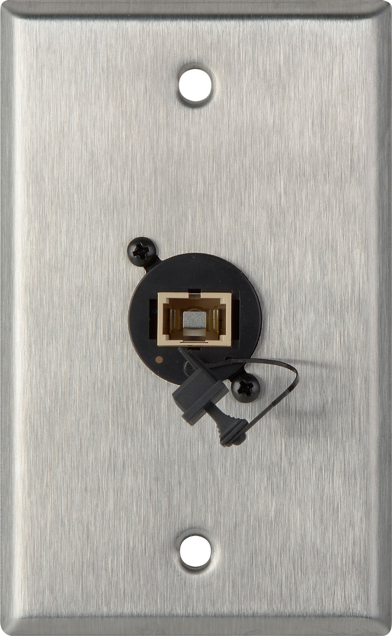 1G Stainless Steel Wall Plate w/ 1 SENKO Simplex SC Multimode WPL-1223