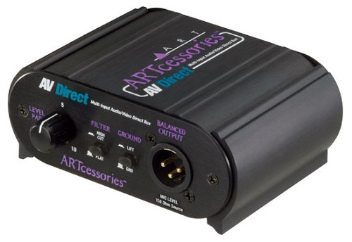 ARTcessories AVDirect Multi-Input Audio/Video Direct Box ART-AVDIRECT