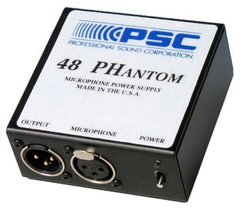 PSC FPSC0001 48 Phantom Microphone Power Supply FPSC0001