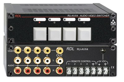 RDL RU-AVX4 Audio/Video Switcher - 4x1 - RCA RU-AVX4